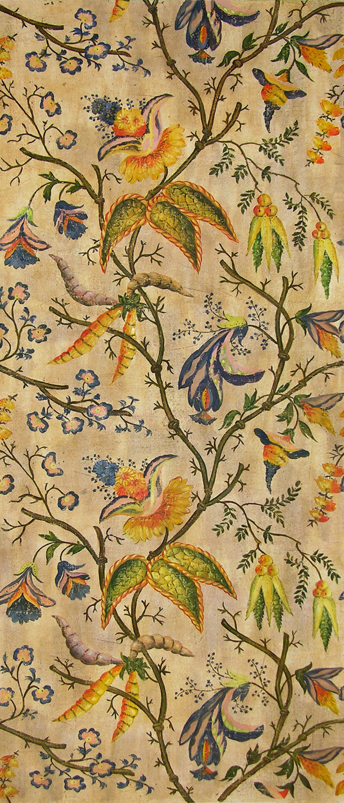 Hand painted wall panels cloth kind for Hand painted walls