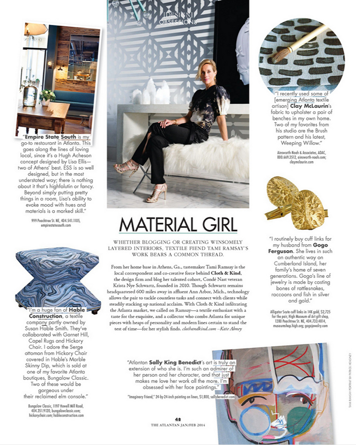 The Atlantan: Material Girl | CLOTH & KIND