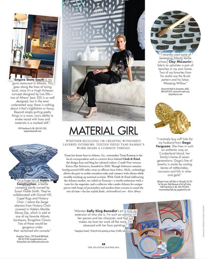 The Atlantan: Material Girl | CLOTH & KIND