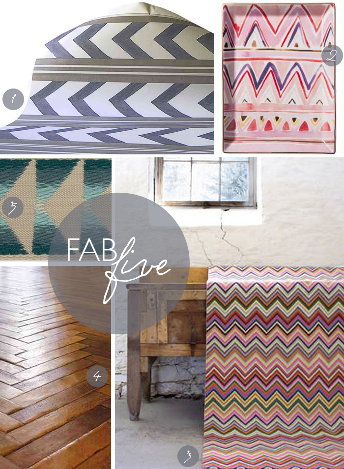 Fab Five: Chevron + a Giveaway! CLOTH & KIND