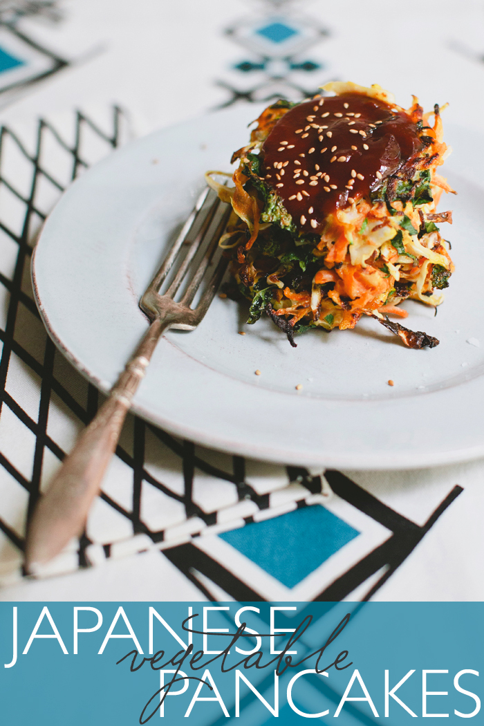 Deconstructed Kitchen: Japanese Vegetable Pancakes | CLOTH & KIND