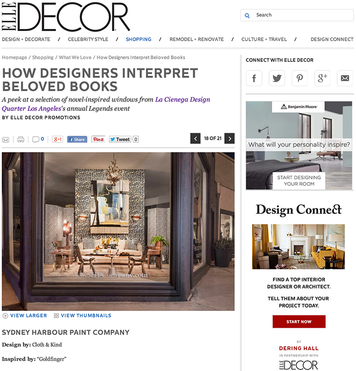 Press: Elle Decor LCDQ Legends | CLOTH & KIND