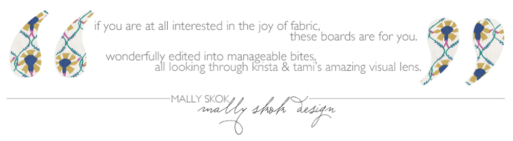 The Textile Files: Mally Skok // CLOTH & KIND