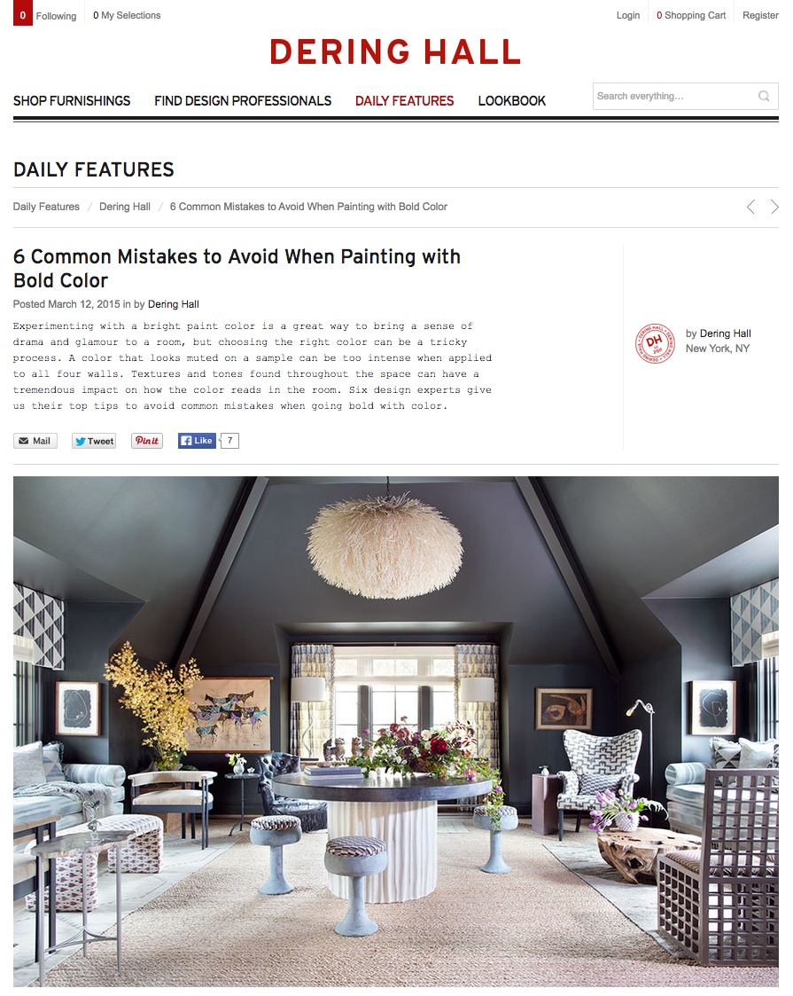 Dering Hall, March 2015 // CLOTH & KIND Press