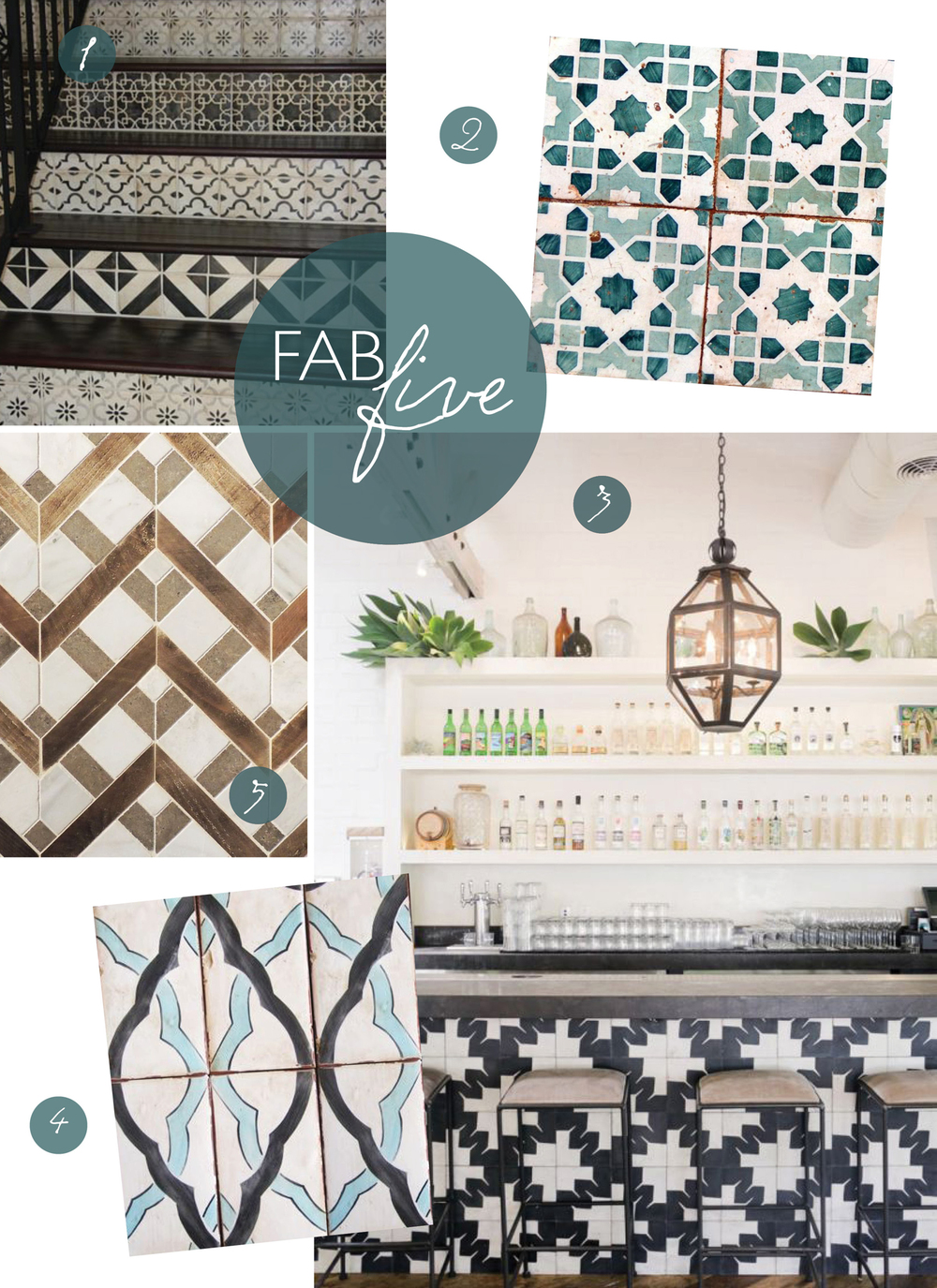 Fab Five: Tile Envy // CLOTH & KIND