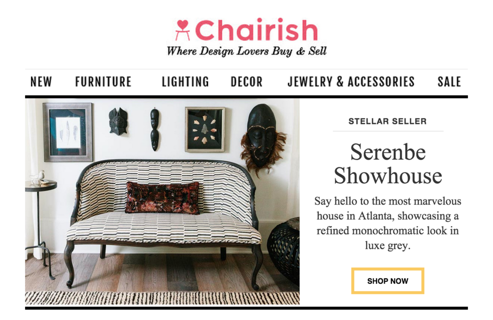 CLOTH & KIND // Shop our Serenbe Showhouse Finds on Chairish.com