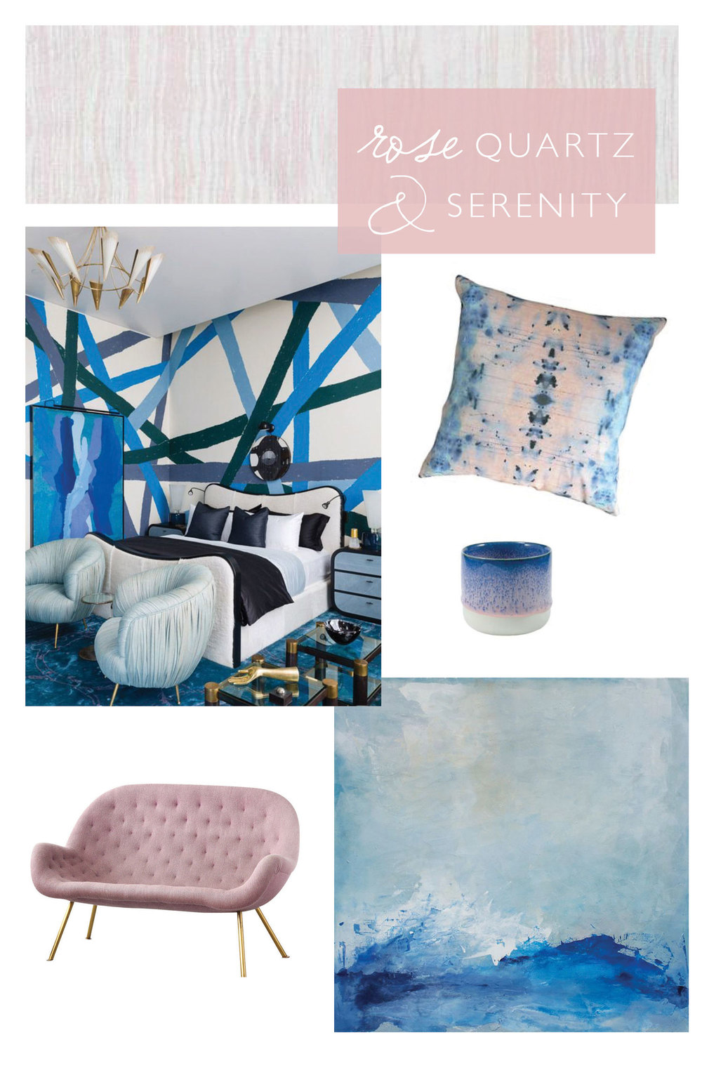 CLOTH & KIND // Hue: Rose Quartz & Serenity by Contributing Editor Molly Velte