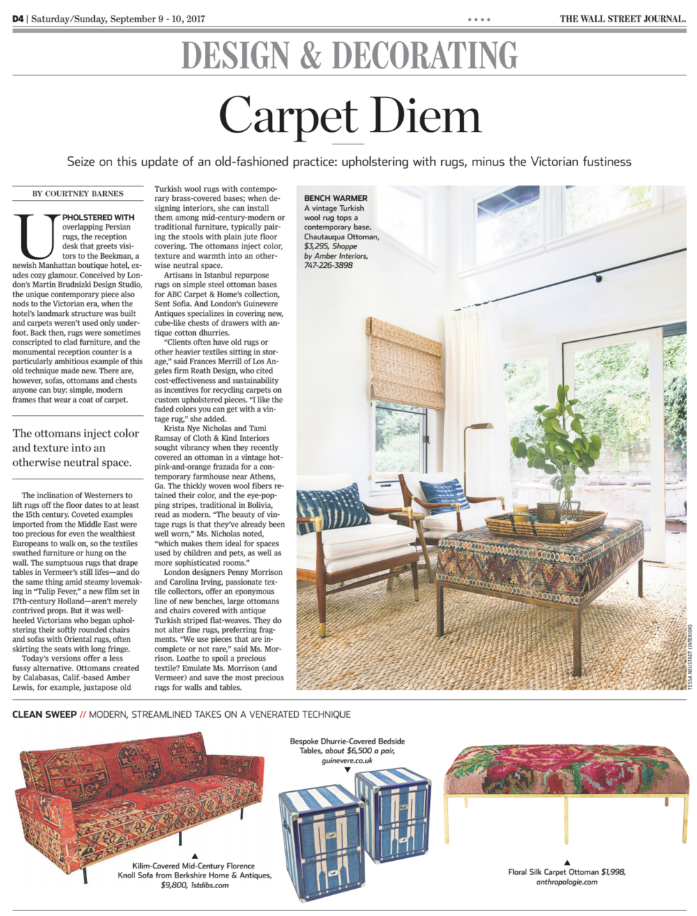 CLOTH & KIND Interiors // WSJ