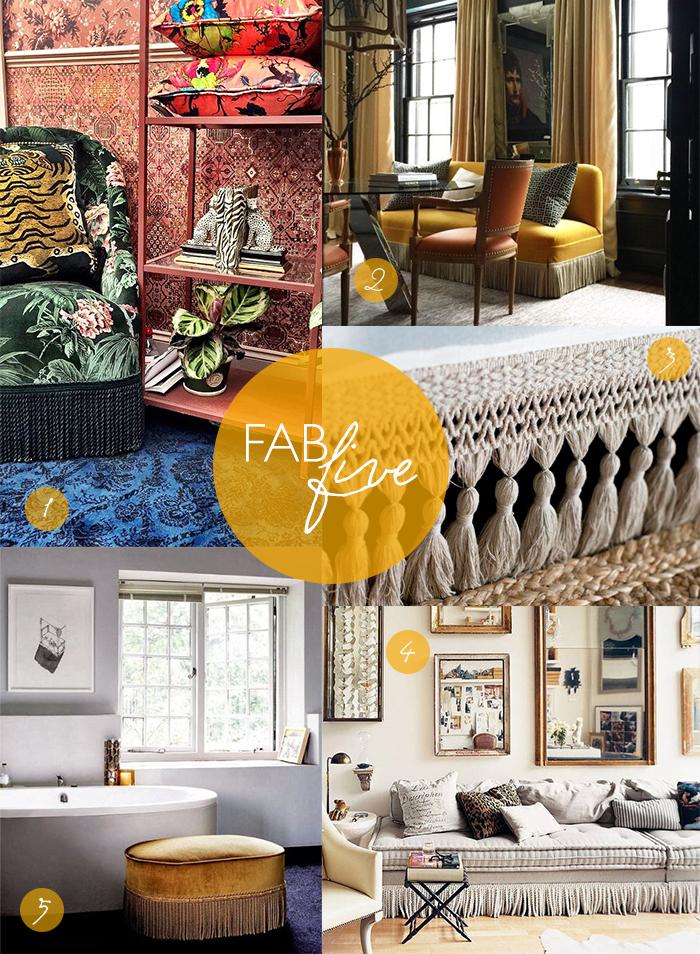 CLOTH & KIND Interiors // Fab Five Fringe