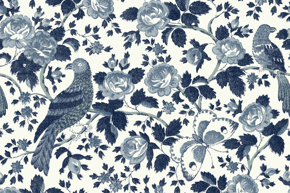 CLOTH & KIND // Wallpaper, Schuyler Samperton
