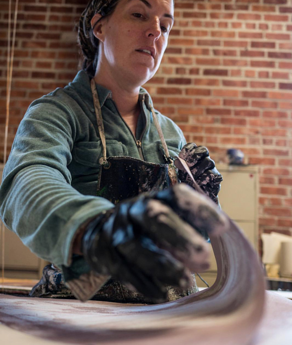 CLOTH & KIND + Paper Mills // Amy Mills at work