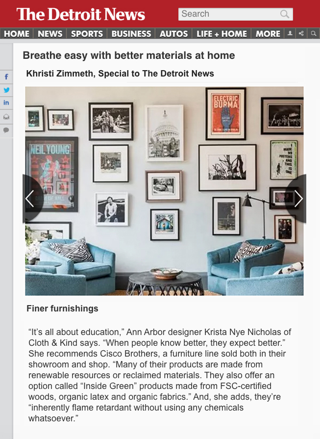 CLOTH & KIND // Press, The Detroit News // Breathe Easy With Better Materials.jpg