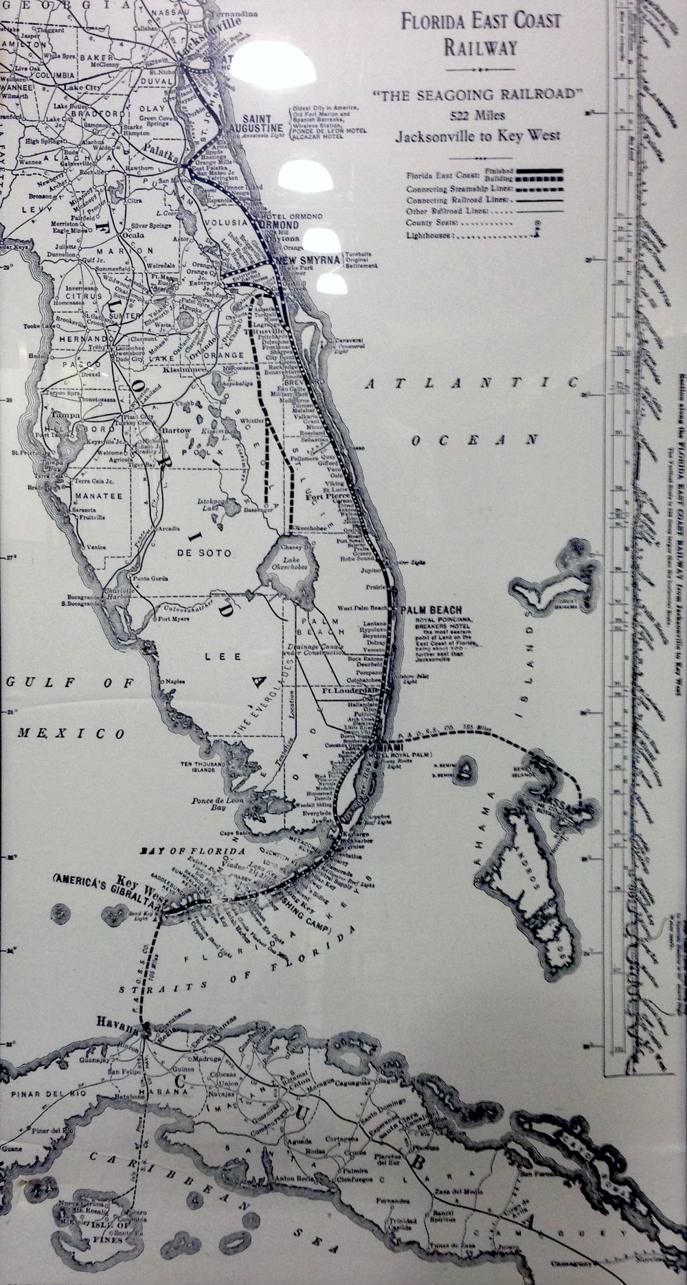 Map of the entire proposed railway. Hanging at the South Florida Fairgrounds.
