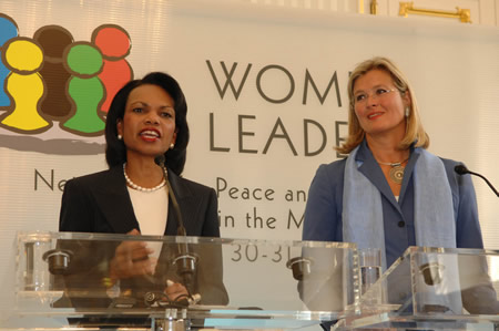 U.S. Secretary of State Condoleezza Rice and Austrian Foreign Minister Ursula Plassnik