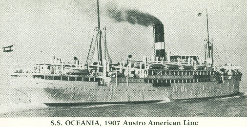 The Oceania, Austro-Americana Line, 1907  (c) Ellis Island Foundation