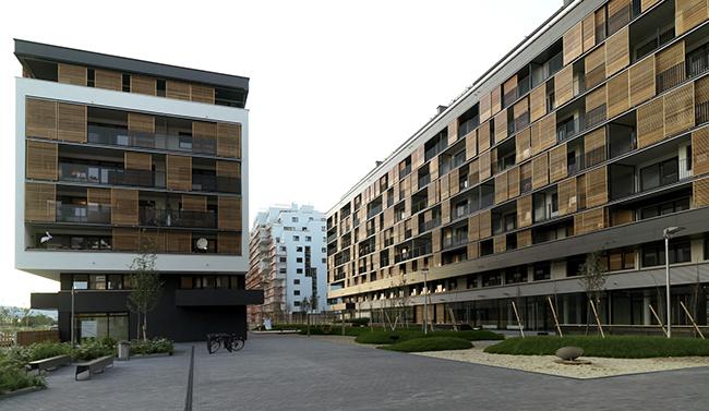 BIKE CITY, 2008. Architects: königlarch architects Photo by: Wohnfonds Wien / Stephan Huger