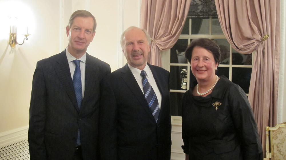 from left: Willy Kiekens, Alternate Executive Director at IMF; Ewald Nowotny, Governor of the Austrian National Bank; Ms. Rita Kiekens