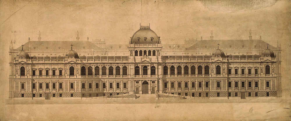 university of vienna, main building original design 1872 (Universtät Wien)