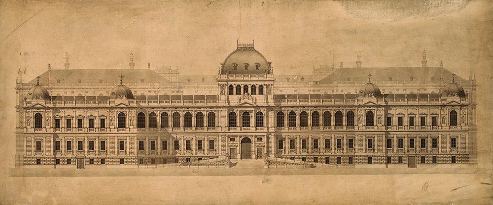 university of vienna, main building original design 1872  (Universtät Wien)