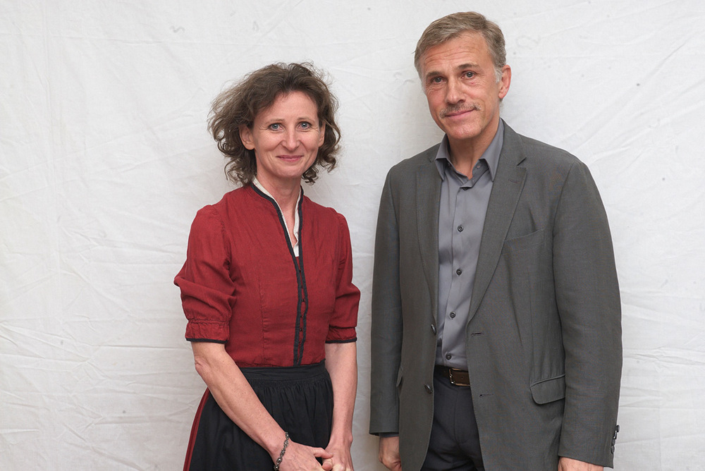 Barbara Gasser with Christoph Waltz. Photo: HFPA