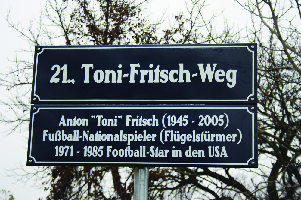 The Toni Fritsch Weg in Vienna, Photo: Football Austria
