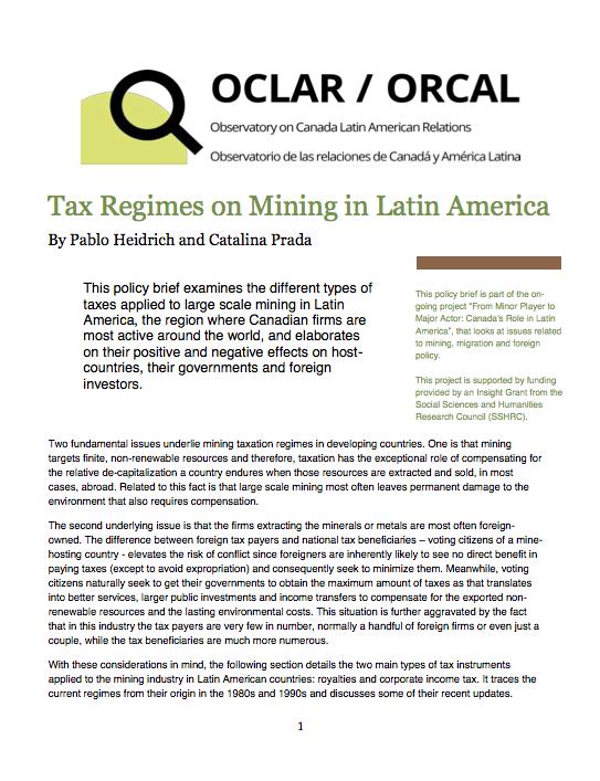 Tax Regimes