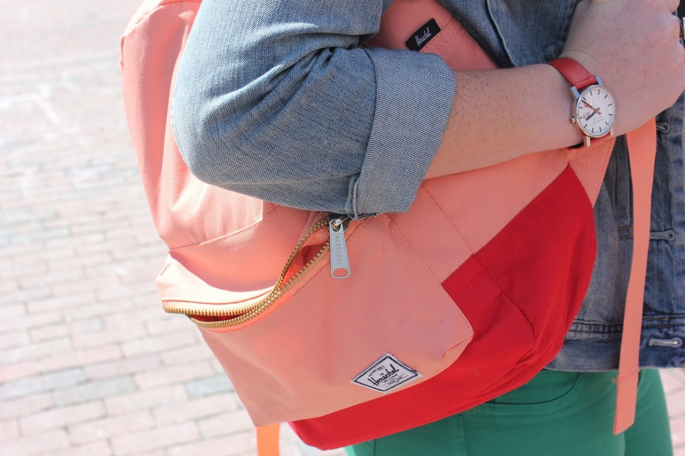 salmon herschel supply backpack unc campus pink