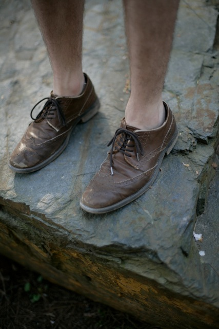 brown brogue oxford college campus shoe preppy ivy duke university