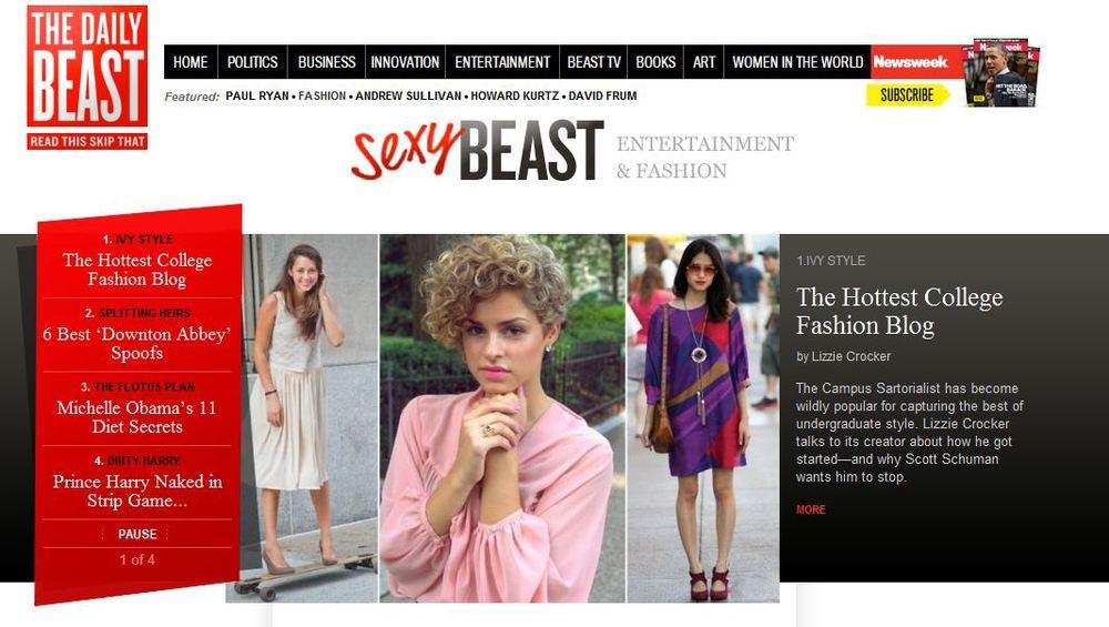 Daily Beast - Campus Sartorialist Street Style by Lizzie Crocker