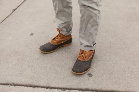Kevin Eye |  Virginia Tech Dockers Classic Khakis L.L. Bean Bean Boot