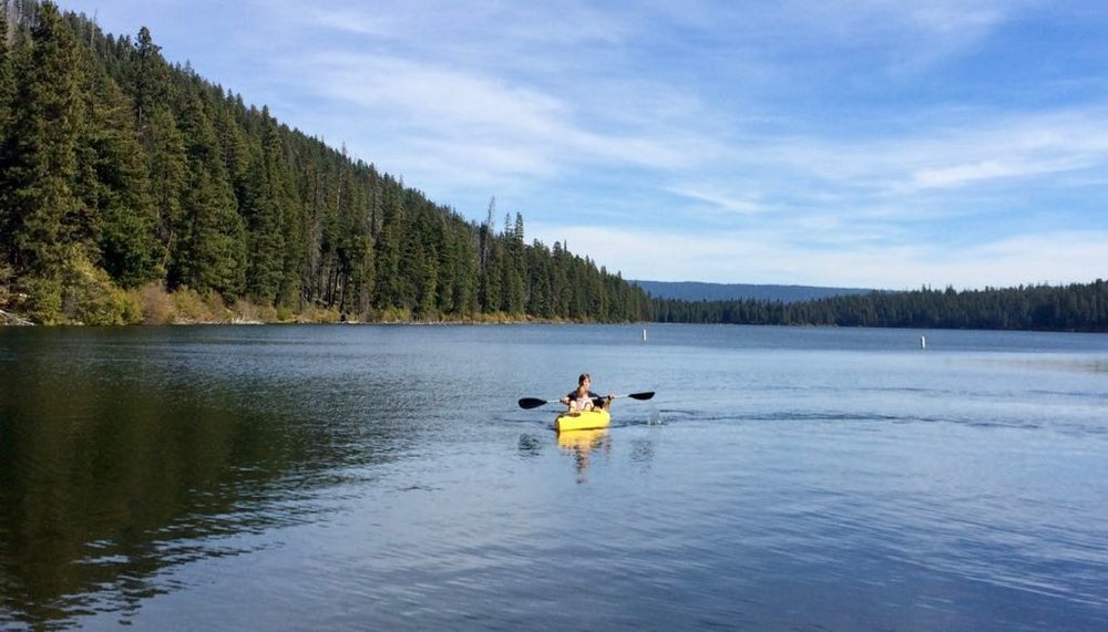 Suttle Lake is great for kayaking, swimming and other water sports.