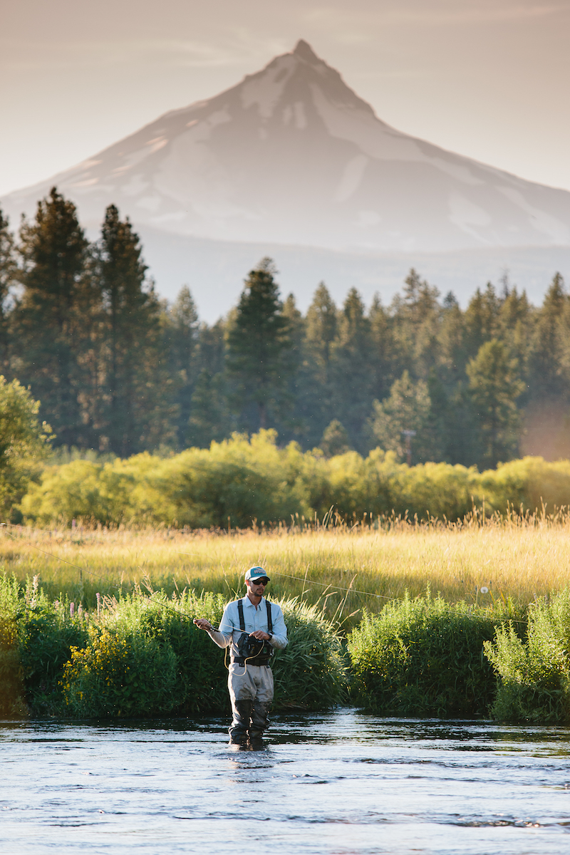 Fishing on the Metolius is fly-fishing only and catch-and-release, so the fish stock is in excellent shape.