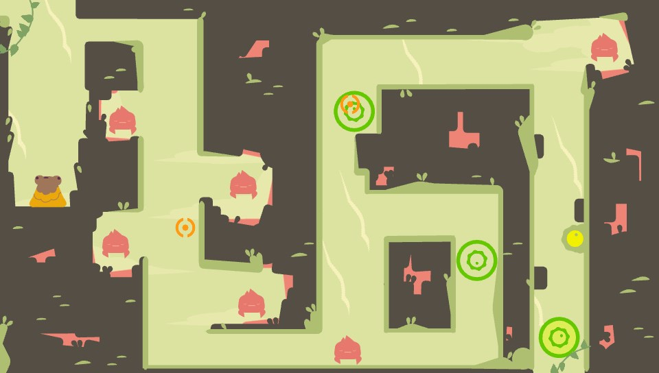 Every level has it's own color scheme and feel