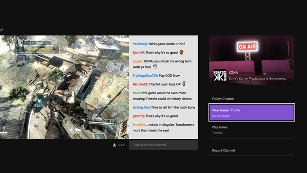 Chat view