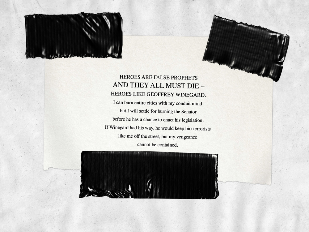 infamous paper trail part 3 help End of the paper trail as infamous second son's arg concludes  between  the game and parts of the internet in infamous paper trail.