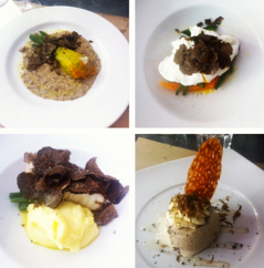 The truffle menu at Chez Serge in Carpentras.