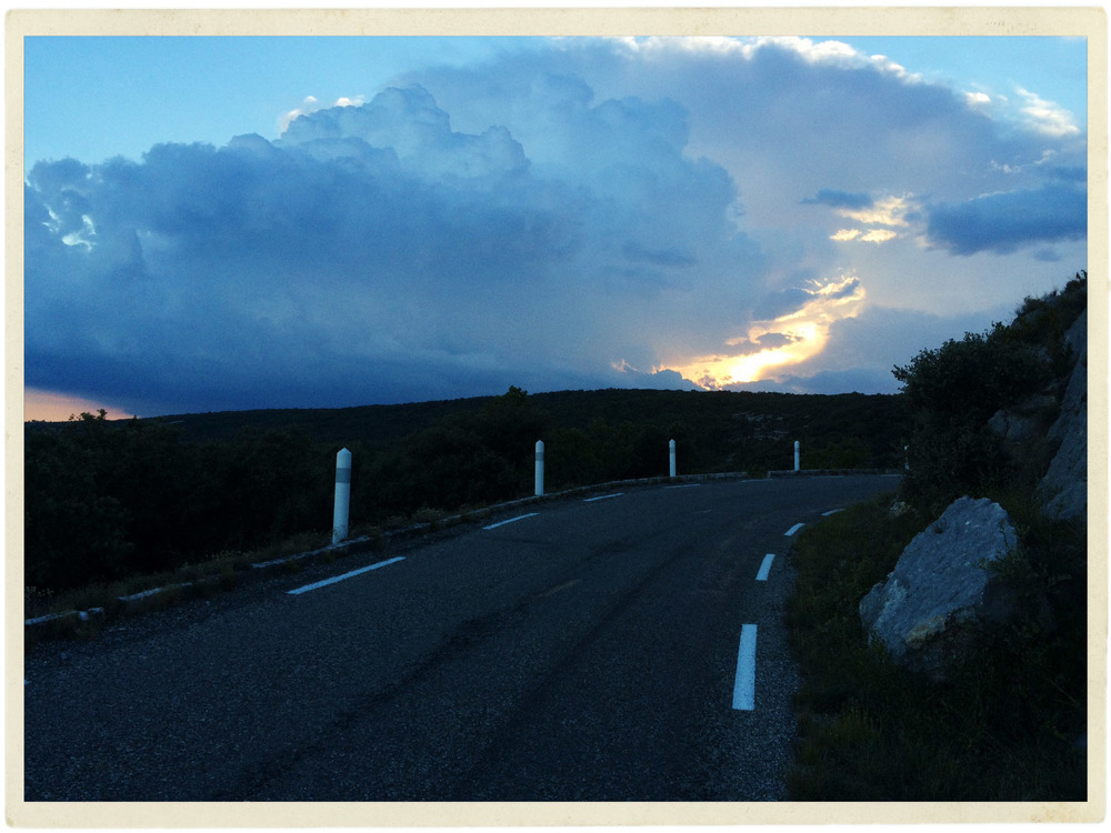 Dramatic evening sky.