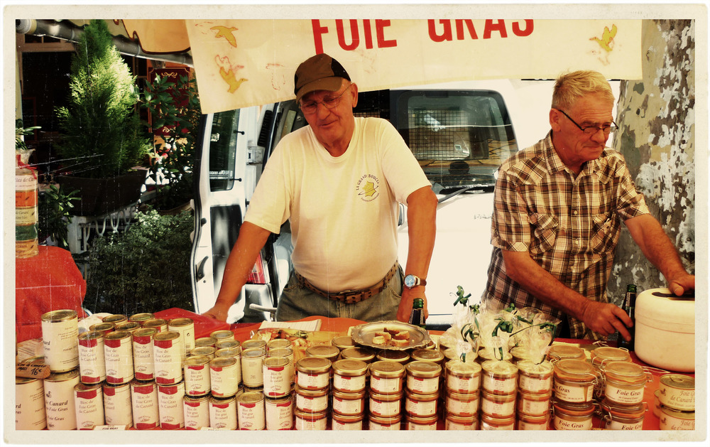 My favourite foie gras producer at the Tuesday market. Delicious!