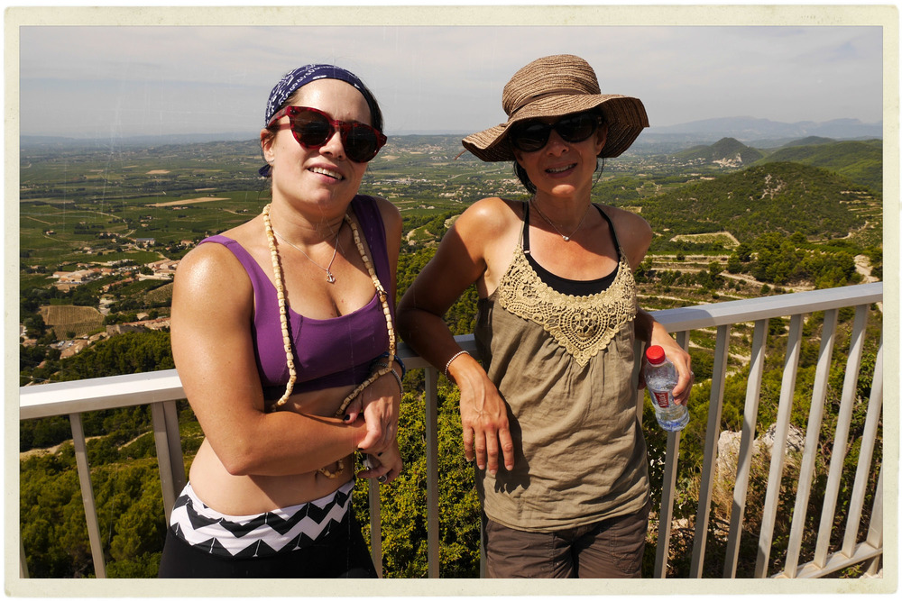 Me and Nat at the observation platform above Gigondas.