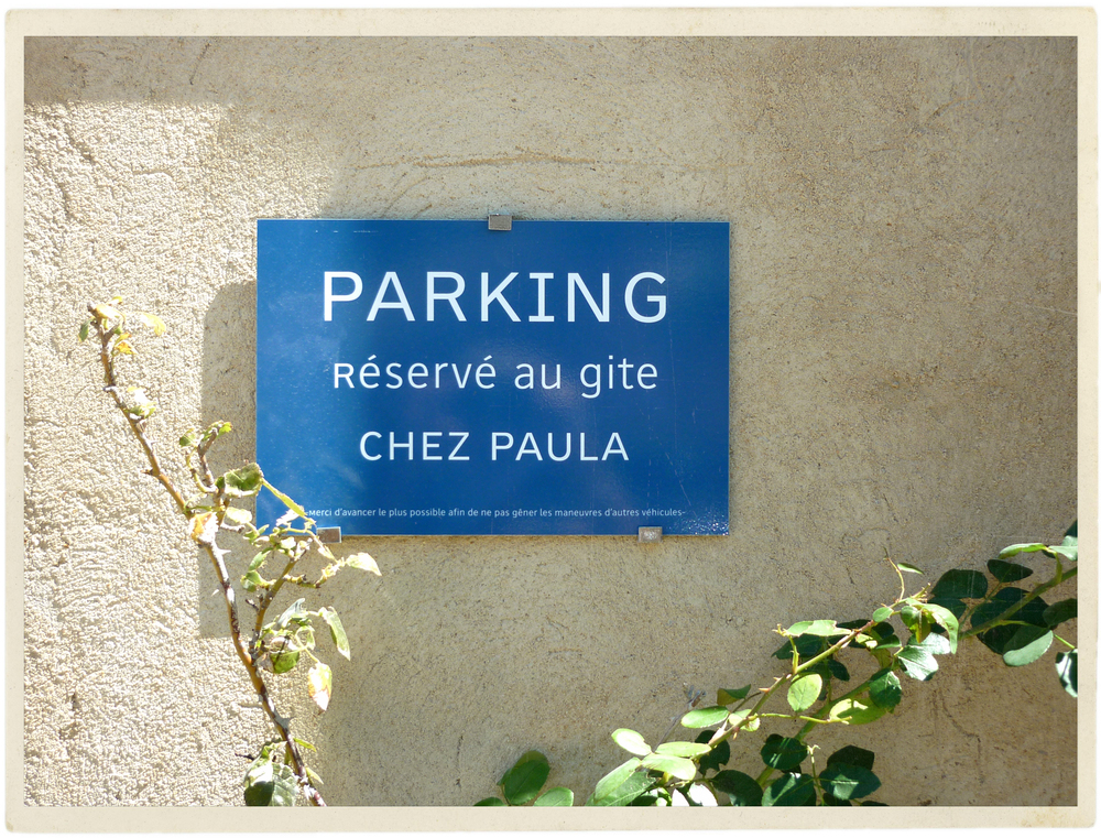 I have arrived, I have my own parking!