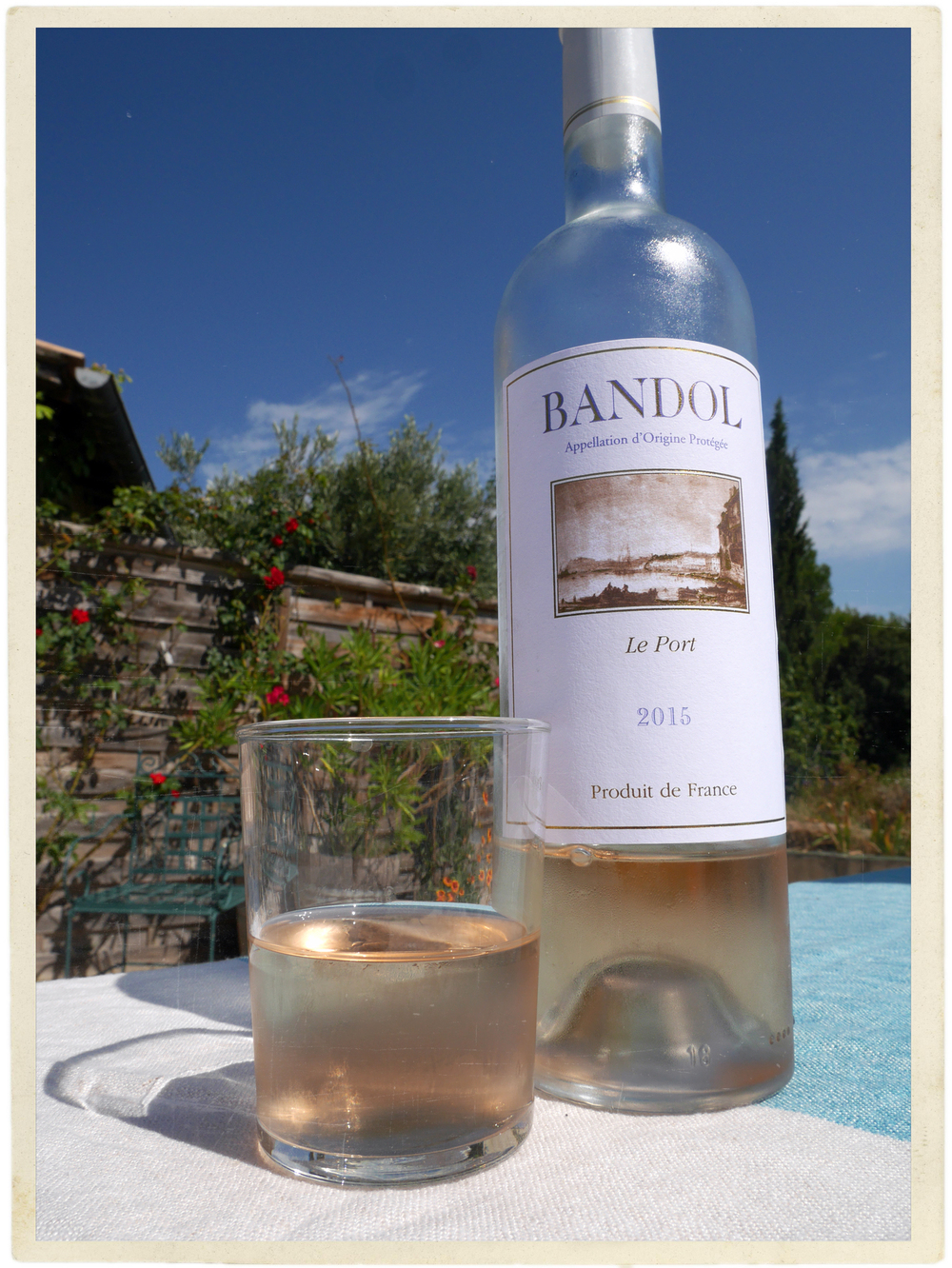 Blue skies and rosé - this is Provence.