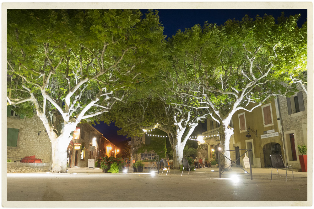 Gigondas at night.