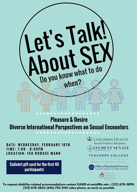 Sex discussion for women