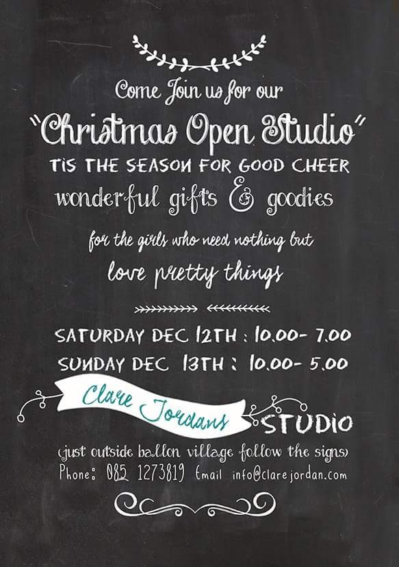 Open studio at Clare's studio