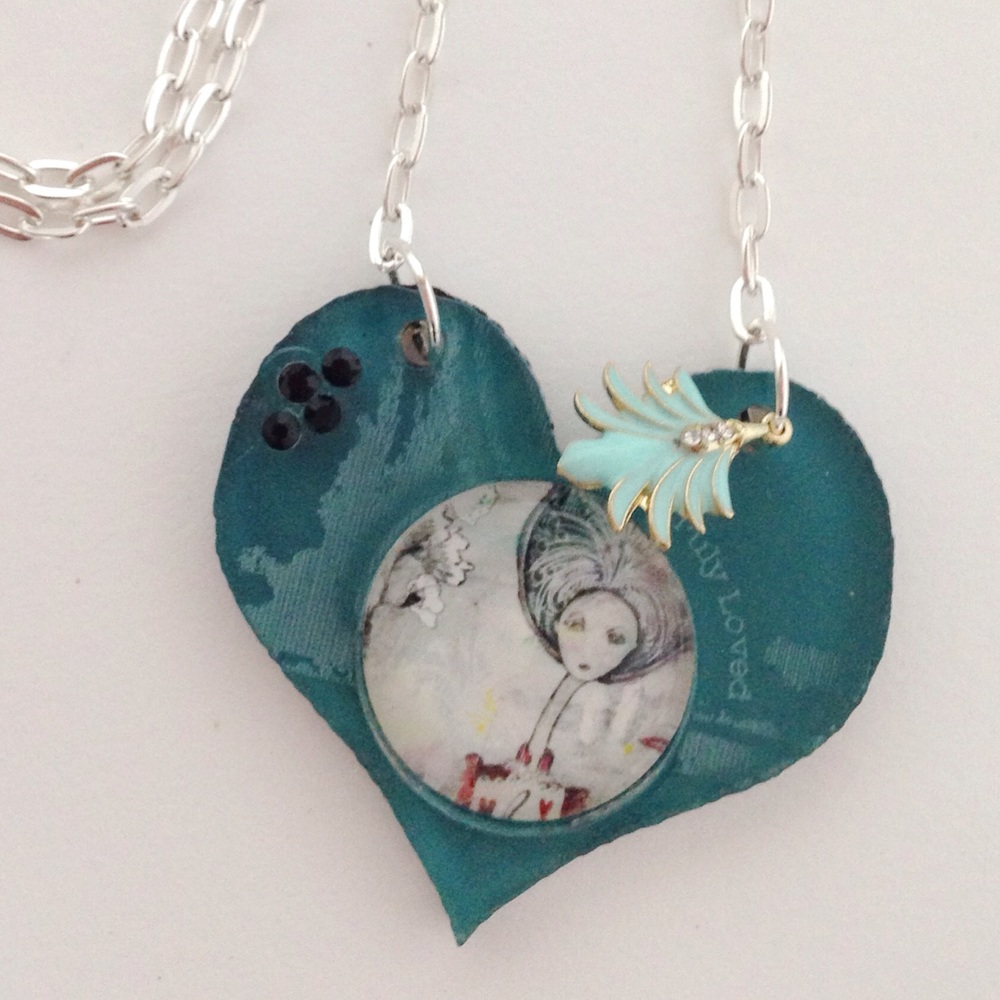 Art pendant - love these statement necklaces. Click here to see more available in my etsy shop!