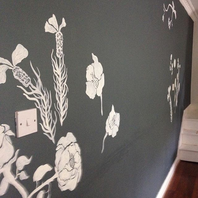 Mural in progress  #wallart #mural #floral