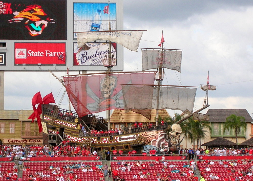 Pirate ship at Raymond James Stadium, home of the Tampa Bay Buccaneers.