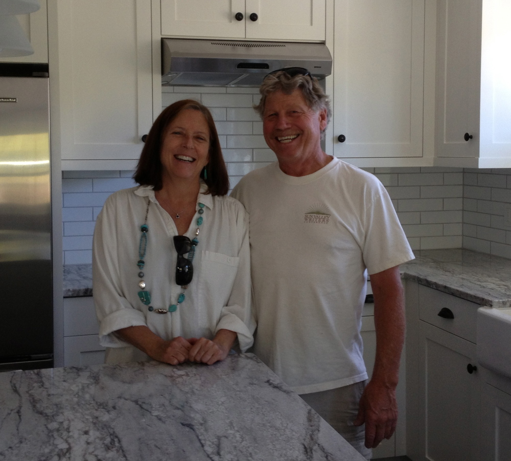 Sharon and her husband, Russ. He's a builder, and this is a kitchen he just completed.