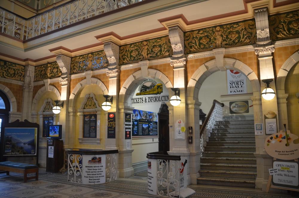 Inside the Dunedin Train Station.