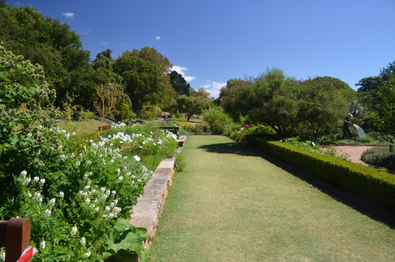 The herb garden in Syndey, AU. Can you find the gardener?